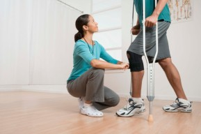 Physical Therapist helps injured man in California